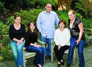 Janette Ferrantino (second from right) and her children (from left) Angela Williams, Janelle Williams, Sean Williams and Elise Williams