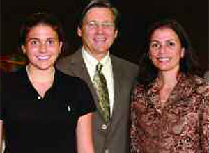 William and Ann Herman (center) with daughter, Carly and son, Benjamin