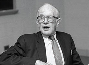 Mark Nickerson participates in a panel discussion following the first Davis, Markert, Nickerson Lecture on Academic and Intellectual Freedom, February 18, 1991.