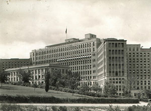 University Hospital pictured here in 1933