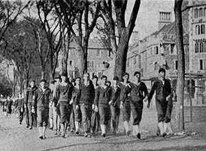 The Princeton Student Naval Training Corps in 1918. Princeton was one of the sites studied by Team Flu.