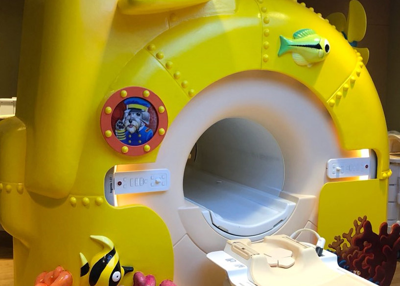 MRI with submarine covering