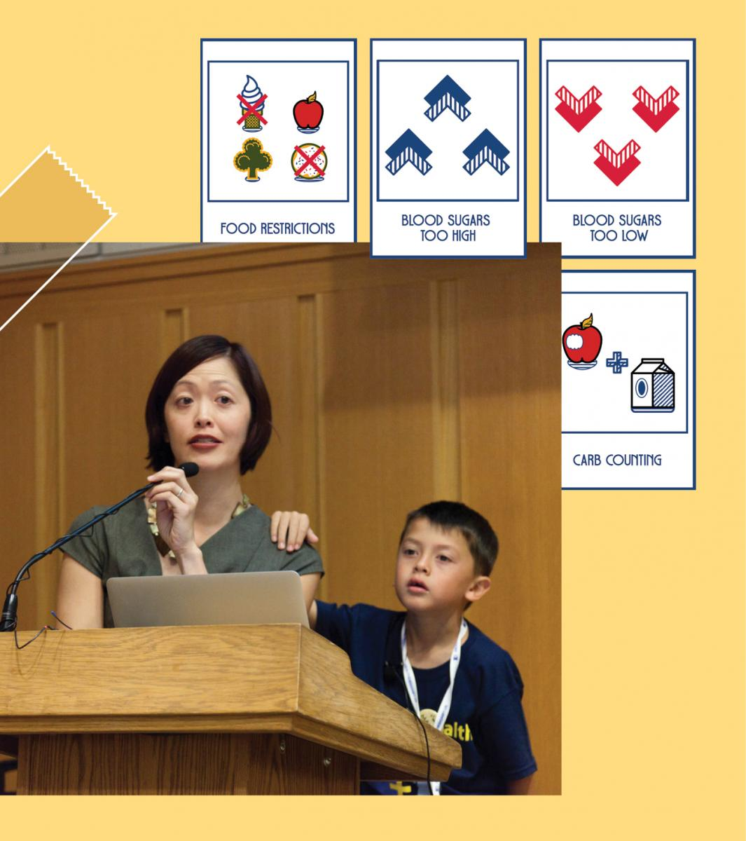 Joyce Lee designed conversation cards to help her Type 1 diabetes patients