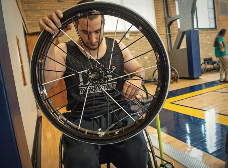 Jimmy Moceri, a wheelchair basketball star.