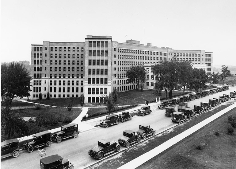Old Main hospital in 1924