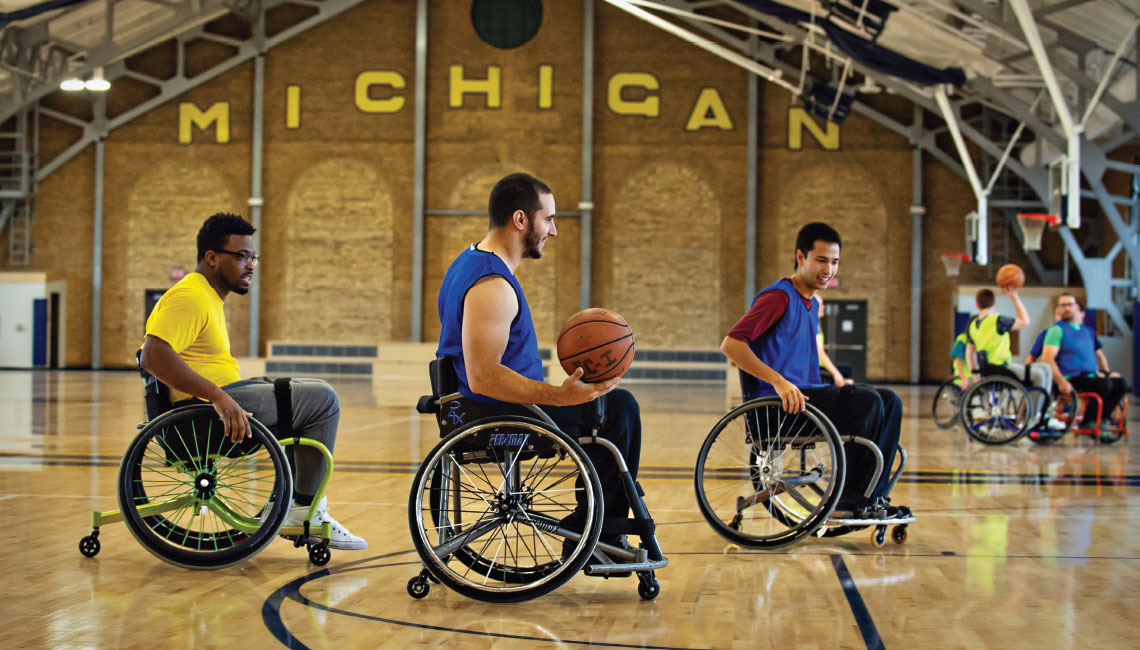 Wheelchair basketball at U-M