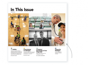 The winter issue table of contents