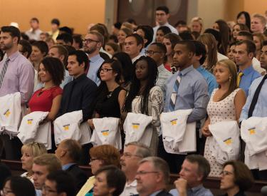 The class of 2019, The class of 2019, pictured during the 2015 White Coat Ceremony