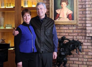Regent Ron Weiser and Eileen Weiser